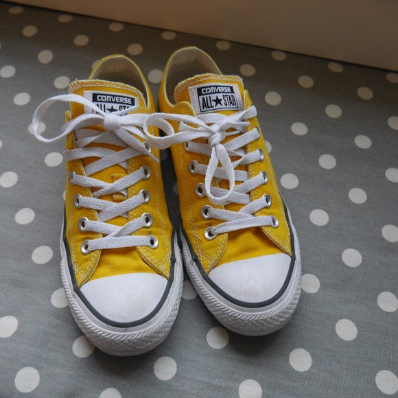 18180c01949f Converse Shoes - Yellow Low Top Converse